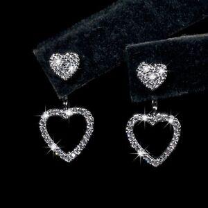 18k-white-gold-made-with-SWAROVSKI-crystal-love-heart-ear-jacket-stud-earrings