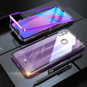 Pour-Huawei-Honor-8X-Magnetique-Absorption-Metal-Pare-Choc-Clapet-Verre-Coque