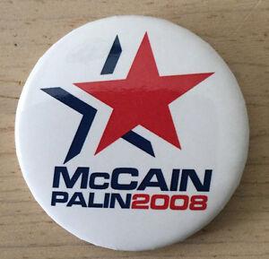 McCain Palin 2008 Presidential Election round Button Pin