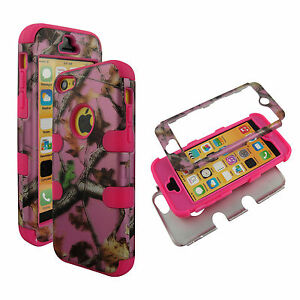 Pink-Camo-Trunk-V-Hybrid-3-in-1-Apple-Iphone-5C-Case-Hard-Cover-Faceplate