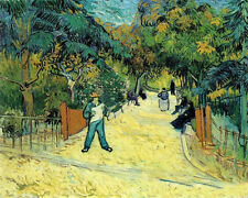 Art Oil painting Vincent Van Gogh - Entrance to the Public Garden in Arles