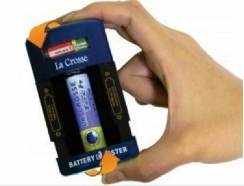 La Crosse Technology Handheld Battery Tester NiMH NiCad AAA AA D 9V C US Seller