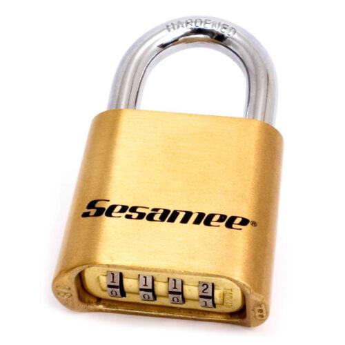 Sesamee 436 Resettable Combination Brass Bottom Padlock
