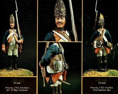 """Affidabile Emi 54mm Metal Kit """"prussia 1762 Fusilier 42nd Infantry Rgt."""" No Box! Rare! Un Rimedio Sovranazionale Indispensabile Per La Casa"""