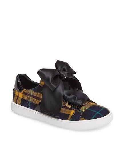 Last one Jeffrey Campbell Vert/Jaune plaid low top sneakers sz 7