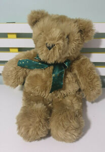 MYER-TEDDY-BEAR-BEST-FRIENDS-GREEN-BOW-WITH-GOLD-STARS-55CM-TALL