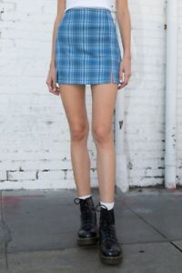 Redhead in blue plaid skirt picture 681