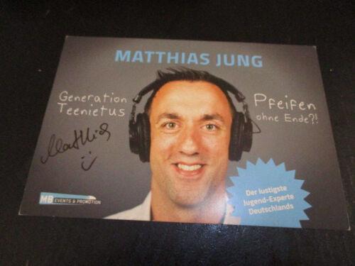 80114 Matthias Jung Musik TV Film Kino original signierte Autogrammkarte