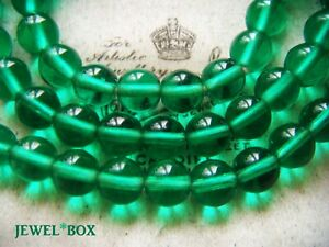 VINTAGE-ART-DECO-Emerald-Green-POOLS-OF-LIGHT-GLASS-CRYSTAL-BEADS-NECKLACE