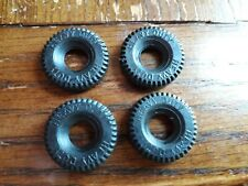 Dinky 14mm Black treaded replacement tyres x4 concave wheels triumph 2000 DD37