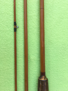 Vintage-Fishing-Split-Cane-Fly-Rod-3-piece-8ft