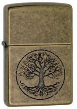 "Zippo Lighter ""Tree of Life"" No 29149 - New on polished antique brass finish"