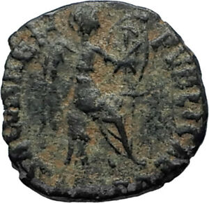EUDOXIA-Arcadius-Wife-401AD-Authentic-Ancient-Roman-Coin-VICTORY-CHI-RHO-i67286