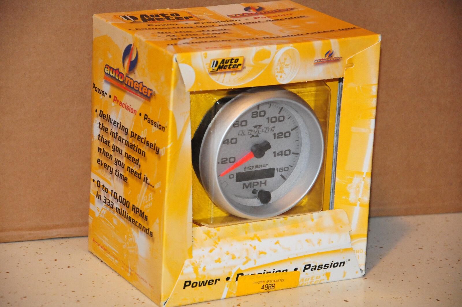 Auto Meter 4988 Ultra-Lite II 3-3//8 160 mph In-Dash Electric Programmable Speedometer