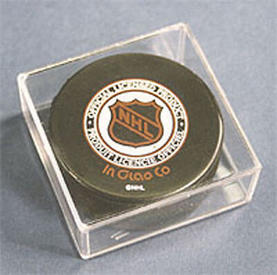 12 NEW PRO-MOLD HOCKEY PUCK CUBE DISPLAY CASE HOLDERS