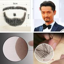 Fake Beard Man Mustache Makeup Party Acting 100% Human Hair Real Facial Hair