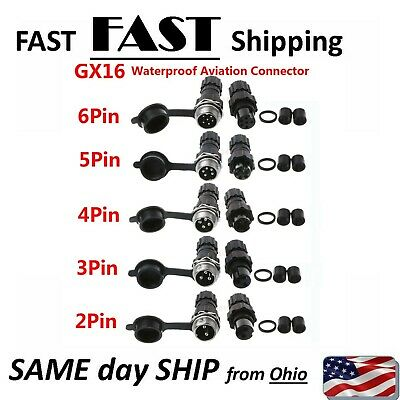 1//2Set Waterproof Connector Aviation Cable Plug Circular Socket Male and Female