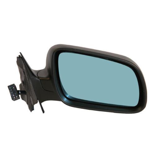96-99 Audi A4 Power Heat Mirror Blue Tint Glass Fold Mirror Right Passenger Side