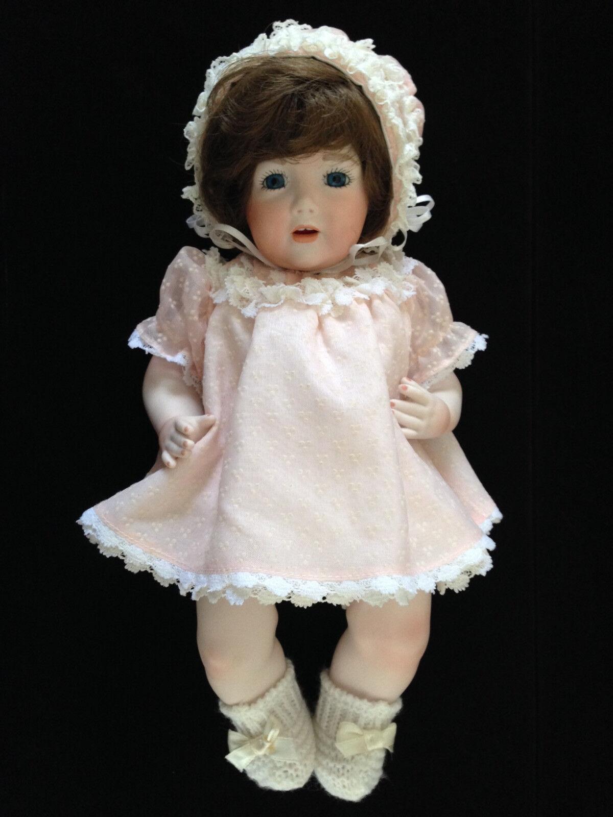 JD Kestner Ges Gesch Germany Porcelain Reproduction Bisque Baby Girl Doll Dress