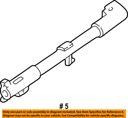 FORD OEM Steering Column-Shift Tube 1F1Z7212AA