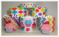 12y+ Resins Candyland Baby Cupcake Cutie Birthday Party Grosgrain Ribbon Mix