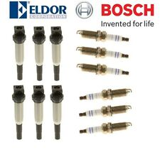 Set of 6 Ignition Coils & 6 Spark Plugs for BMW Models with Delphi Version Coil