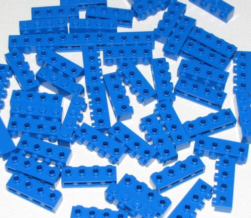 Lego Lot of 50 New Blue Bricks Modified 1 x 4 with 4 Building Blocks Pieces