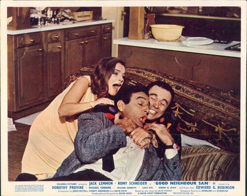 Good Neighbor Sam lobby card Jack Lemmon Mike Connors Romy Schneider