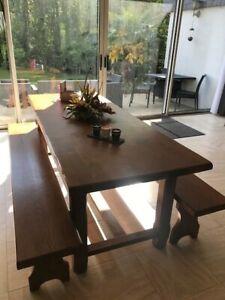 et 90 0 Table assortischêne sur x Détails ferme bancs de 2 massif2m XPiTOZkuwl