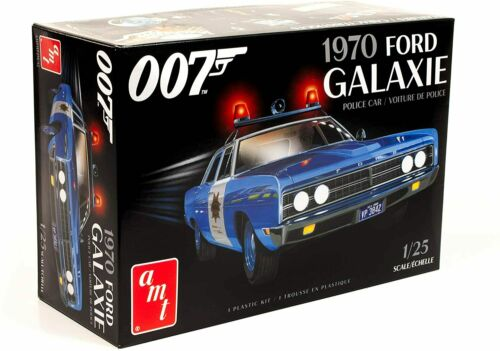 James Bond 2T 1//25 Scale Model Kit AMT1172 1970 Ford Galaxie Police Car