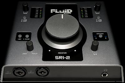 New Spirited Fluid Audio Sri-2-24-bit/192 Khz Audio Interface & Monitor Controller Neu
