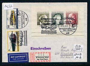 10657) Spécial R-mot Journées Culturelles Consacrées Dortmund-hongrie, Lp-lettre Masst 7.5.71-afficher Le Titre D'origine