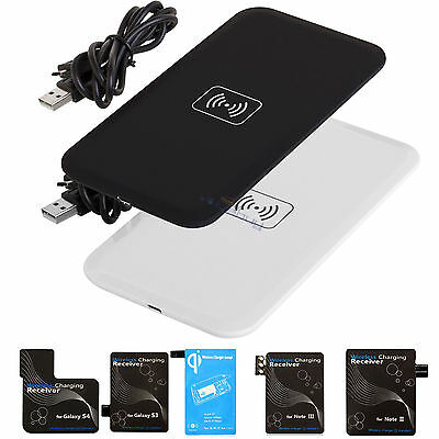 Qi Wireless Charger Charging Pad+Receiver Kit for Samsung Galaxy S3 S4 S5 N2 N3