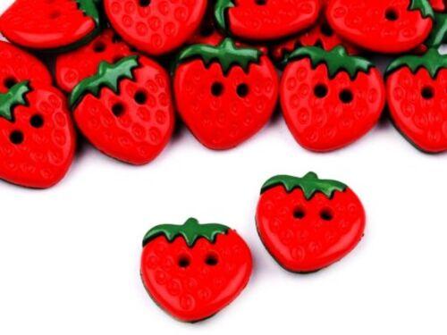 Erdbeere 5 Kinderknöpfe 15mm Kinderknöpfe Kinderbekleidung Knopf