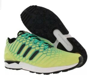 outlet store 4c106 81dcf Image is loading Adidas-ZX-Flux-Xeno-Green-AURORA-BOREALIS-ALL-