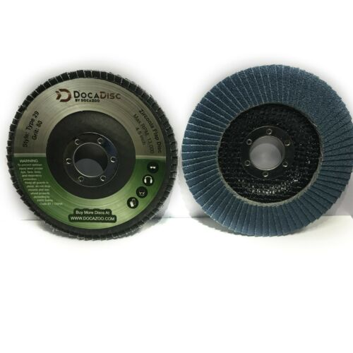 """10 Pack of Flap Discs 4.5/"""" Type 29 T29 Abrasive Grinding Cutting Wheel Grit"""