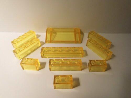 Lego gelbe Transparent Steine und 1 Cockpit Space Classic