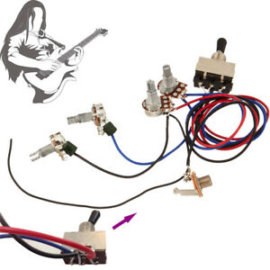 Details about Guitar Wiring Harness Kit Device 2T 2H 3W Toggle Switch on gibson es-335 wiring, gibson les paul wiring mods, gibson 50s wiring, gibson switch wiring,