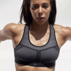 ea289b189964c Details about NIKE FE/NOM FLYKNIT High Support Sports Bra AJ4047 010 NEW  XSmall (XS) NWT $80