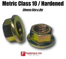 Metric Hex Flange Nuts Class 10 Grade 8 Zinc Yellow Choose Size Amp Qty