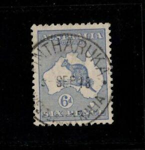 1915-Australia-6d-Ultramarine-Roo-third-wmk-SG-38-Fine-Used-stamp