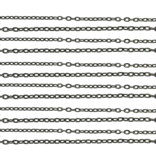 Hot 2-100M Silver Gold Bronze Cable Open Link Iron Metal Chain Making Decorate