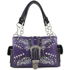 bordado bolso Justin Floral Western bolso ocultar West Buckle llevar wFFqaI8T