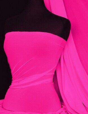 Hot pink power mesh 4 way stretch fabric 109LT HTPN