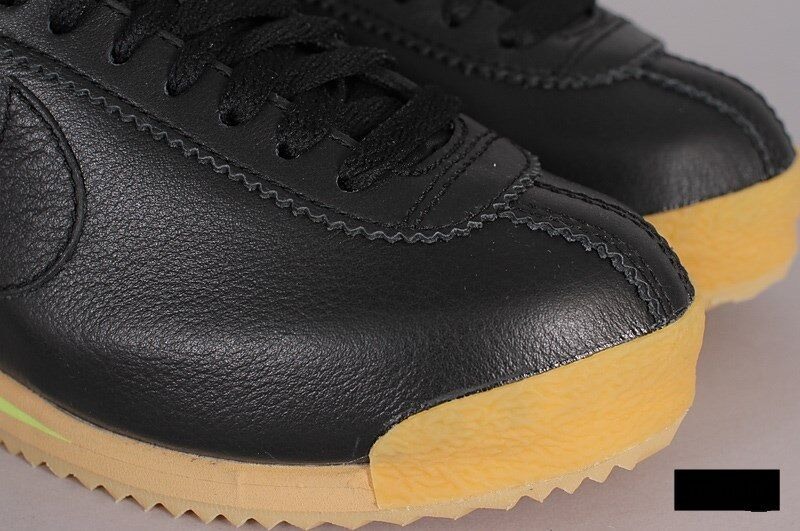 Nike Cortez '72 847126-001 Black Balsa-Gum Yellow Yellow Yellow Wmn Sz 7.5 Leather 19f38b
