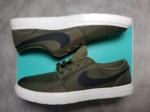 c59fcca8c10a1d New Nike SB Portmore 2 Men Size 9 Ultralight Olive Green Mesh White ...