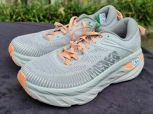 HOKA ONE ONE Bondi 7 Women's Cushioned Running Shoes Size 8 D Wide 1110531HMSH