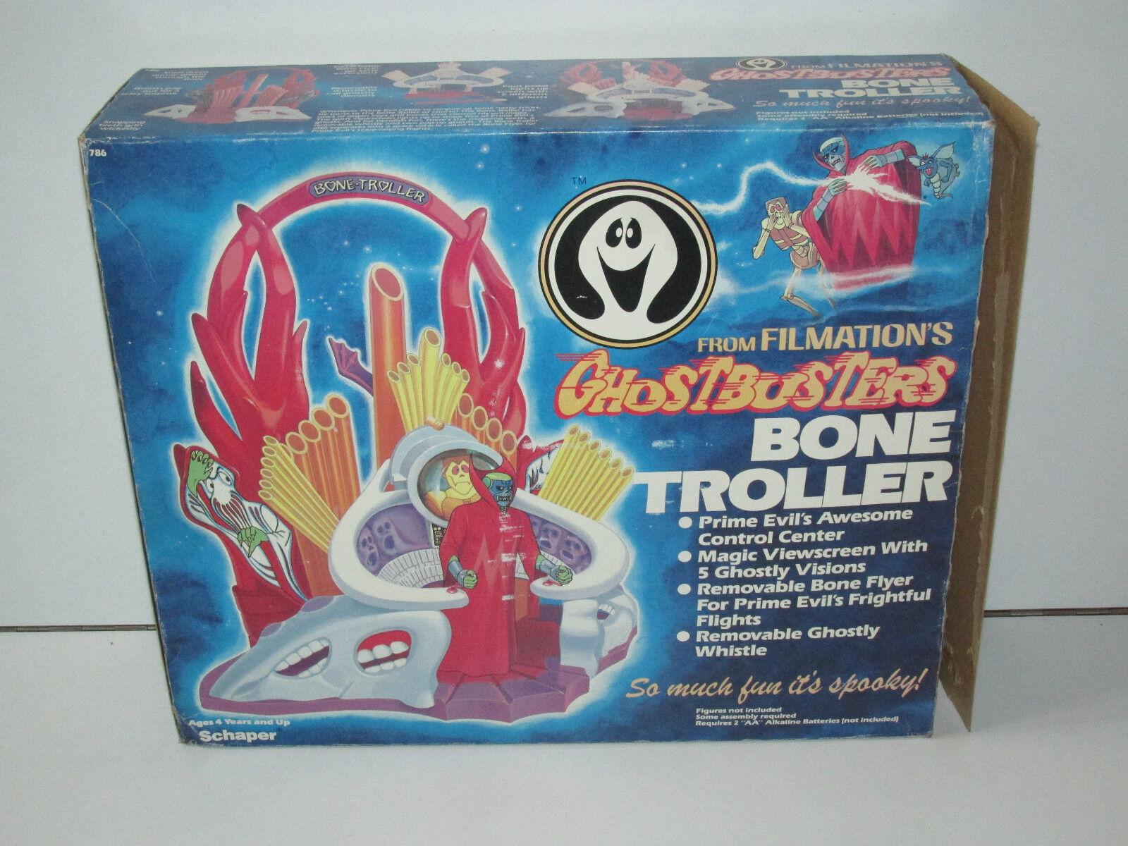FILMATION GHOSTBUSTERS BONE TROLLER 100% COMPLETE BOXED MIB 1985 SCHAPER