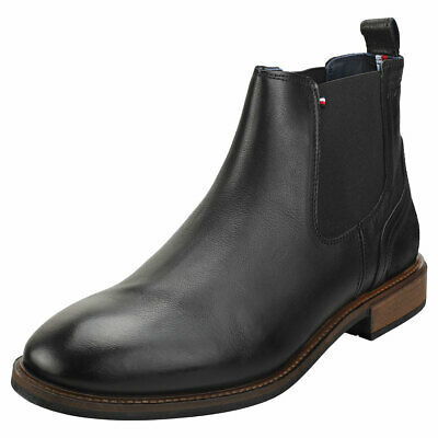 Stiefeletten TOMMY HILFIGER Elevated Leather Mix Chelsea FM0FM02424 Black 990