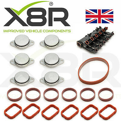 6 x 33mm for BMW M57 Swirl Blanks Flaps Repair Delete Kit Red BMW03-33-RE